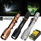Vander T6 LED Flashlight 5000LM Zoom Tactical Torch Light Lamp 18650+US Charger