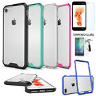 Shockproof Case For Iphone 7 Plus Hard TPU Gel Cover with Tempered Glass Screen