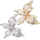 Fashion Women Jewelry Butterfly Gold/Silver Plated Crystal Rhinestone Brooch Pin image