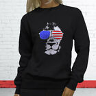 American Lion Independence Fourth Of July Top Day Womens Black Sweatshirt