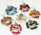 Lot New Fashion Vintage Boho Turquoise Shell Stud Earring Party Jewelry