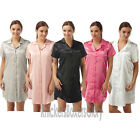 Ladies Short Sleeve Satin Nightshirt/Nightie/Nightdress Size 10 12 14 16 18 20