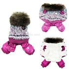 Hot Small Dog Pet Apparel Outercoat Jumpsuit Pants Puppy Warm Winter Clothes