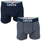 Mens Levi&Apos;S Vintage Stripe 2 Pack Trunk Shorts In Navy-Mens Levi&Apos;S