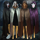 Fashion Cosplay Velvet Cloak Witch Medieval Adult Hooded Cape Halloween Costume