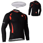 Winter Thermal Fleece Long Sleeve Men's Cycling Jersey Jacket Clothes Size S-3XL