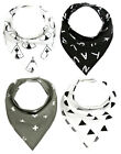 4Pcs Infant Kids Cotton Bandana Bibs Feeding Saliva Towel Dribble Triangle Set K