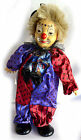 "VINTAGE  PORCELAIN DOLL/CLOWN WIND-UP MUSICAL 13"" TALL. EXCELLENT CONDITION"