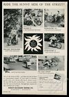 1961 Harley-Davidson Sportster CH H Super-10 Duo-Glide motorcycle photo print ad