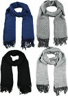 Luxurious Winter Warm Woven Soft Feel Touch Diamonds Check Long Scarf