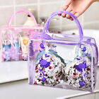 High-quality PVC Flower Waterproof Makeup Toiletry Travel Wash Cosmetic Pouch