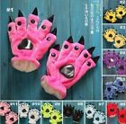 2 PC Many colors Fashion Unisex Animal Warm Plush Cosplay Claw Paw Prop Gloves