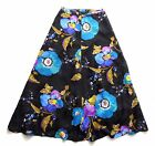 Vintage 70's Floral / Psychedelic Print Maxi Skirt Retro Boho 12