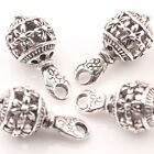 10/20Pcs Tibetan Silver Hollow Out Flower Carved Beads Charm Pendants 20*10mm