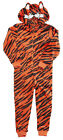 Boys TIGER Animal Stripe Sleepsuit Hooded Zip Romper with Tail 2 to 13 Years