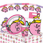LITTLE MISS PRINCESS Birthday PARTY RANGE (Tableware/Decorations/Girl/Mr.Men)