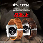Luxury Genuine Leather Watch Band Wrist Strap Bracelet for Apple Watch 38/42mm