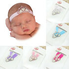Girl Baby Newborn Infant Princess Pearl Crown Headband Hair Bow Band Photo Props