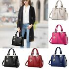 New women lady leather solid elegant large tote purse satchel handbag hobo bag