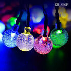 5M 30LED Crystal Ball Solar String Lights Rope Christmas Outdoor Garden