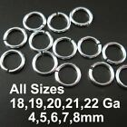 Wholesale Sterling Silver Open Jump Rings (All Sizes) Bulk Lots