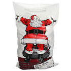 4 8 12 16 LARGE PLASTIC CHRISTMAS SANTA SACK STOCKING BAG GIFT PRESENTS TOY TREE