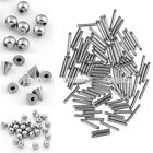 100x Steel Ball Cone 16g Barbell Cartilage Lip Labret Tongue Ring Piercing DIY