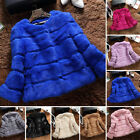Women's Overcoat Garment 100%Real Xmas Style Rabbit Fur Short Coat Jacket