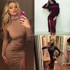 Sexy Women Long Sleeve Pencil Bandage Bodycon Party Evening Cocktail mini Dress#