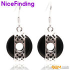 16mm Donut Drop Dangle Hook Earrings Tibetan Silver Fashion Women Jewelry Gifts