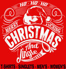 Merry F*ucking Christmas rude Funny Singlets Men's ladies T-Shirts Aussie store