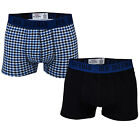 Mens Ben Sherman Mens 2 Pack James Trunk in black blue From Get The Label