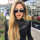 Split New  Mirrored Lens Aviator Celebrity Designer Sunglasses Men Woman