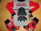 New Boys Star wars Here comes trouble Toddler pajamas Sleepwear  3T 4T 5T