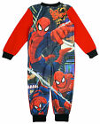 Boys Ultimate Spiderman Go Spidey Fleece Zipper Sleepsuit Romper 3 to 8 Years