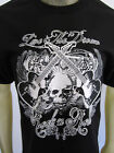 Rock N Roll band Skull Guitar party tee shirt men's black choose A size