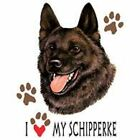 Schipperke Ash white Pick Your Size T Shirt 7 X Large to 14 X Large