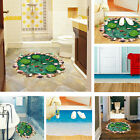 3D Removable Lotus Beach Floor Wall Sticker Vinyl Decor Art Decals Bathroom Room