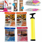 Space Saving Storage Vacuum Seal Compressed Organizer Package Bag Air Pump