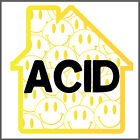 Acid House Decal Car Laptop Sticker Rave Face Party VW Funny Cool Music