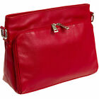 Silver Lilly Women's Genuine Leather Concealed Carry Gun Purse CCW Crossbody