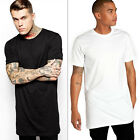 New Men Boy Short Sleeve Long Size Extended Hip Hop T-Shirt M-XL