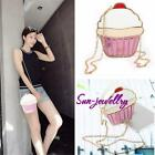 Women Girl 3D Ice Cream Shoulder Bag Handbag Chain Purse Crossbody Clutch Tote S