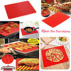 10X Pyramid Pan Non Stick Fat Reducing Silicone Cooking Mat Baking Tray Sheets#