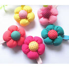 Vogue Flower Hair Clips Kids Candy Color BB Hairpins for Baby Girls gift JR