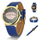 New Fashion Mouth pattern casual Leather Stainless Steel Quartz Women's Watch