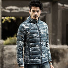 Men's Winter stand collar coat Camouflage Ultralight Warm Parka Duck Down Jacket