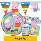 PEPPA PIG Birthday Party Tableware & Decorations (Napkins/Plates/Party Bags)