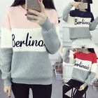 Autumn Women's Crew Neck Long Sleeve Hoodie  Casual Loose Pullover Jumper