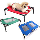 Petcomer Dog Cat Bed Elevated Pet Indoor Outdoor Camping Steel Frame Mat